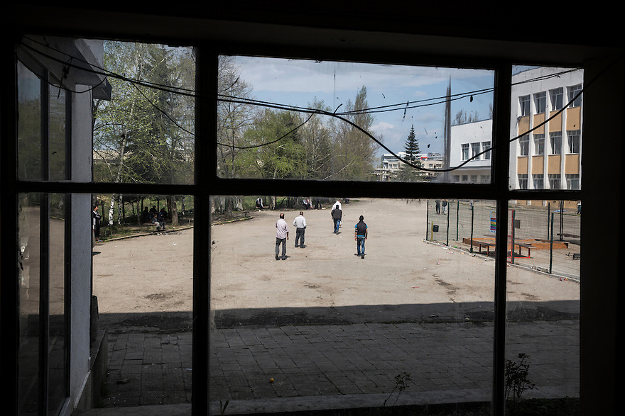 SOFIA, BULGARIA- Voenna Rampa camp, where hundreds of asylum seekers wait for months to have their asylum claims to be approved.