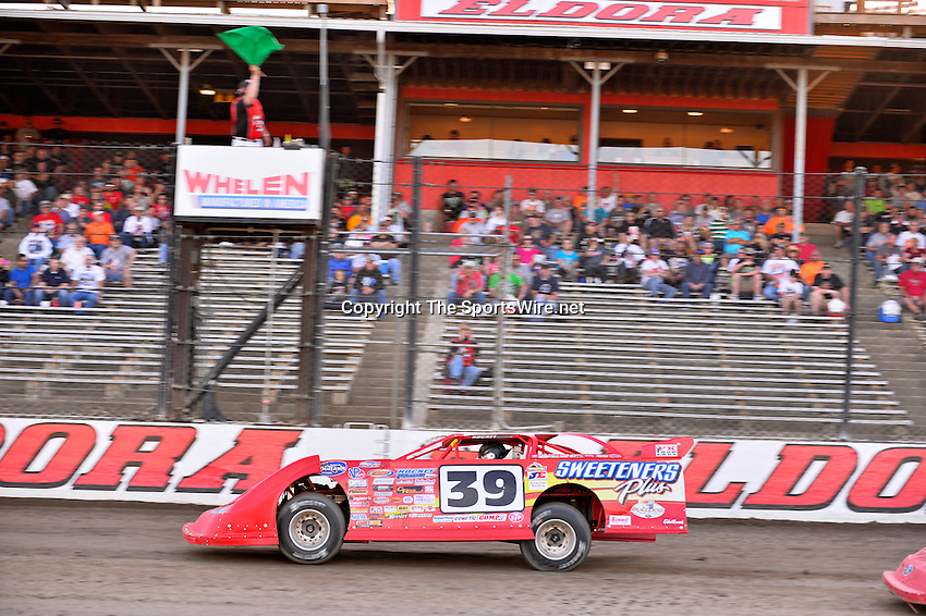 Jun 5, 2014; 7:13:48 PM; Rossburg, OH., USA; The 20th annual Dirt Late Model Dream XX in an expanded format for Eldora's $100,000-to-win race includes two nights of double features, 567 laps of action  Mandatory Credit:(thesportswire.net)