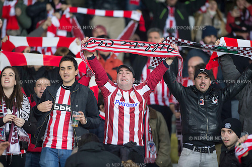 Athletic Bilbao fans, FEBRUARY 19, 2015 - Football / Soccer : UEFA Europa League, round of 32 first leg match between Torino FC 2-2 Athletic Club Bilbao at Stadio Olimpico di Torino in Turin, Italy. (Photo by Maurizio Borsari/AFLO)