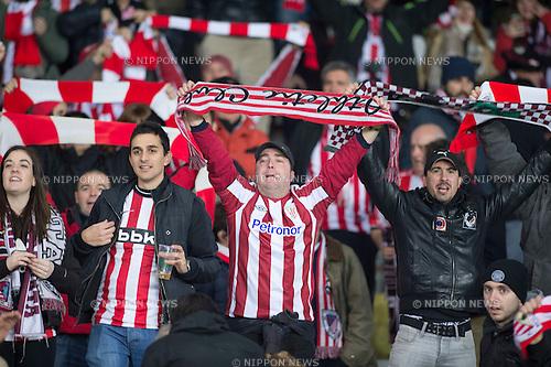 Athletic Bilbao fans, FEBRUARY 19, 2015 - Football / Soccer : UEFA Europa League, round of 32 first leg match between Torino FC 2-2 Athletic Club Bilbao at Stadio Olimpico di Torino in Turin, Italy. (Photo by Maurizio Borsari/AFLO)
