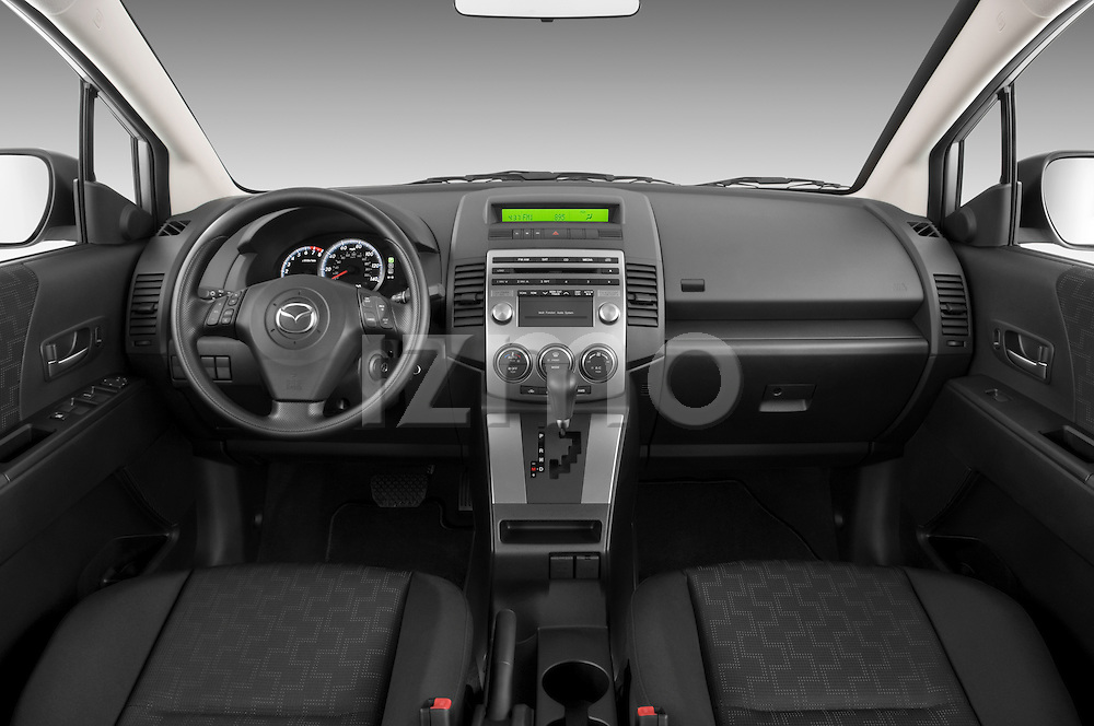 Straight dashboard view of a 2008 Mazda 5