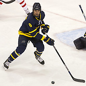 Johnathan Kovacevic (Merrimack - 8) - The visiting Merrimack College Warriors defeated the Boston University Terriers 4-1 to complete a regular season sweep on Friday, January 27, 2017, at Agganis Arena in Boston, Massachusetts.The visiting Merrimack College Warriors defeated the Boston University Terriers 4-1 to complete a regular season sweep on Friday, January 27, 2017, at Agganis Arena in Boston, Massachusetts.