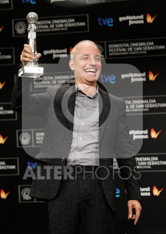 Spanish film director Pablo Berguer receives the Special Mention of the Jury award during the Awards Gala in the 60th San Sebastian Donostia International Film Festival - Zinemaldia.September 29,2012.(ALTERPHOTOS/ALFAQUI/Acero)