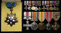 BNPS.co.uk (01202 558833)<br /> Pic: Lockdales/BNPS<br /> <br /> Stokes impressive medals.<br /> <br /> The gallantry medals of a World War One hero went on to become a thorn in Winston Churchill's side during the Second World War have emerged for sale. <br /> <br /> Lieutenant Richard Stokes was twice awarded the Military Cross in the First World War for risking his own life to save others.<br /> <br /> First, in 1917, he took the place of a forward observer in the Royal Artillery who had just been killed in action.<br /> <br /> With no thought to his own safety he repeatedly went out into the exposed battlefield to fix broken telephone lines and restore communication with the main battery.<br /> <br /> Every time he did he rescued several wounded colleagues while under intense enemy fire.