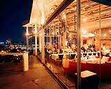 TURKEY, Istanbul, group of people sitting at 360 restaurant at night
