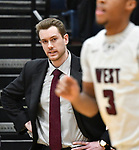 New Belleviille West head coach Alex Schobert watches in the first quarter. Belleville West played Belleville East  in a Class 4A boys basketball semifinal game at Belleville East High School in Belleville, Illinois on Wednesday March 4, 2020. <br /> Tim Vizer/Special to STLhighschoolsports.com