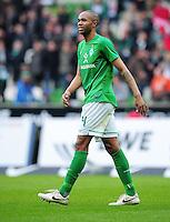 FUSSBALL   1. BUNDESLIGA   SAISON 2011/2012   32. SPIELTAG SV Werder Bremen - FC Bayern Muenchen               21.04.2012 Naldo (SV Werder Bremen) ist enttaeuscht
