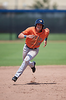 Houston Astros Jacob Meyers (96) running the bases during a Minor League Spring Training Intrasquad game on March 28, 2019 at the FITTEAM Ballpark of the Palm Beaches in West Palm Beach, Florida.  (Mike Janes/Four Seam Images)