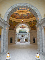 The Utah State Capitol building is divided in two wings.