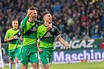 10.02.2019, Weser Stadion, Bremen, GER, 1.FBL, Werder Bremen vs FC Augsburg, <br /> <br /> DFL REGULATIONS PROHIBIT ANY USE OF PHOTOGRAPHS AS IMAGE SEQUENCES AND/OR QUASI-VIDEO.<br /> <br />  im Bild<br /> <br /> jubel tor 4:0 <br /> Kevin M&ouml;hwald / Moehwald (Werder Bremen #06)<br /> Sebastian Langkamp (Werder Bremen #15)<br /> <br /> Foto &copy; nordphoto / Kokenge