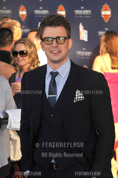 "Chris Evans at the premiere of his new movie ""Captain America: The First Avenger"" at the El Capitan Theatre, Hollywood..July 19, 2011  Los Angeles, CA.Picture: Paul Smith / Featureflash"
