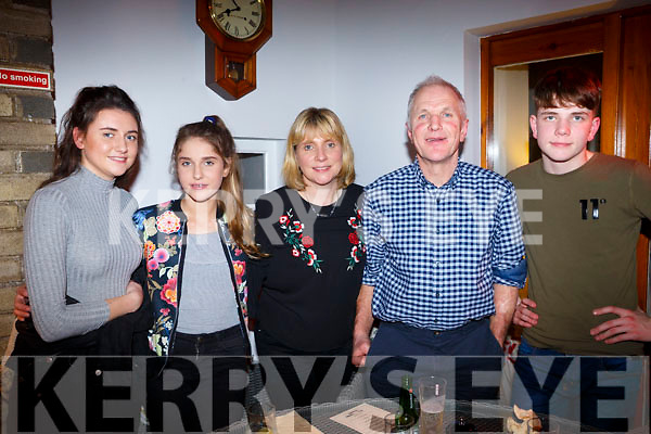 The O'Shuilleabhain family celebrating Eimer's birthday in Bella Bia on Friday night last, l to r, Sorcha, Rhain, Eimear, Colm and Jimi O'Shuilleabhain.