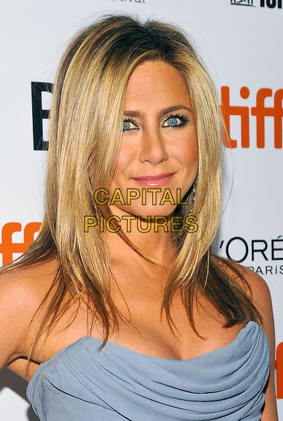 Jennifer Aniston<br /> &quot;Life Of Crime&quot; Premiere - 2013 Toronto International Film Festival held at Roy Thomson Hall, Toronto, Ontario, Canada, <br /> 14th September 2013.<br /> TIFF portrait headshot makeup beauty eyeliner  ruched corset grey gray vivienne westwood strapless <br /> CAP/ADM/BPC<br /> &copy;Brent Perniac/AdMedia/Capital Pictures
