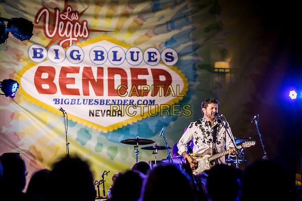 LAS VEGAS, NV - September 12: ***HOUSE COVERAGE*** Tab Benoit pictured at The Big Blues Bender at The Plaza Hotel &amp; Casino in Las Vegas, NV on September 125, 2015. <br /> CAP/MPI/EKP<br /> &copy;EKP/MPI/Capital Pictures
