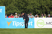 Lee Slattery (ENG) on the 13th tee during Round 4 of the D+D Real Czech Masters at the Albatross Golf Resort, Prague, Czech Rep. 03/09/2017<br /> Picture: Golffile | Thos Caffrey<br /> <br /> <br /> All photo usage must carry mandatory copyright credit     (&copy; Golffile | Thos Caffrey)