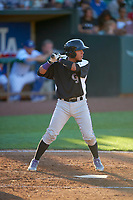 Ronaiker Palma (47) of the Grand Junction Rockies bats against the Ogden Raptors at Lindquist Field on June 15, 2019 in Ogden, Utah. The Raptors defeated the Rockies 12-11. (Stephen Smith/Four Seam Images)