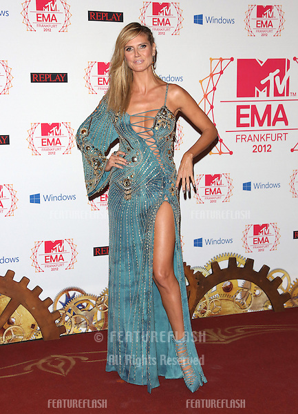 Heidi Klum arriving for the The MTV EMA's 2012 held at Festhalle, Frankfurt, Germany. 11/11/2012 Picture by: Henry Harris / Featureflash