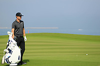 Lucas Bjerregaard (DEN) during previews ahead of the first round of the NBO Open played at Al Mouj Golf, Muscat, Sultanate of Oman. <br /> 14/02/2018.<br /> Picture: Golffile | Phil Inglis<br /> <br /> <br /> All photo usage must carry mandatory copyright credit (&copy; Golffile | Phil Inglis)