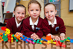 Thriplets Lauren,Katelyn and Isabelle Godley Junior Infants attending Glenderry NS Ballyheigue on Friday