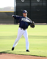 Evan Scribner / San Diego Padres 2008 Instructional League..Photo by:  Bill Mitchell/Four Seam Images