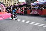 Miguel Angel Lopez Moreno (COL) Astana Pro Team powers off the start ramp of Stage 1 of the 2019 Giro d'Italia, an individual time trial running 8km from Bologna to the Sanctuary of San Luca, Bologna, Italy. 11th May 2019.<br /> Picture: Eoin Clarke | Cyclefile<br /> <br /> All photos usage must carry mandatory copyright credit (© Cyclefile | Eoin Clarke)