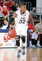 Florida International University guard Jeremy Allen (32) plays against Western Kentucky University, which won the game 61-51 on January 28, 2012 at Miami, Florida. .