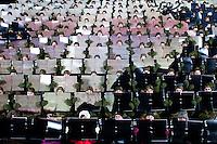 """Kirkenes, Norge, 09.02.2012. Den 1. februar 2012 lastet kunstner Morten Traavik opp en videosnutt på You Tube av Nord-Koreanske ungdommer som spiller A-Ha hiten """"Take on Me"""" på trekkspill. En uke etter ha over en million mennesker sett videoen. En delegasjon Nord-Koreanere er i Kirkenes i forbindelse med festivalen """"Barents Spetakel"""". Foto: Christopher Olssøn"""