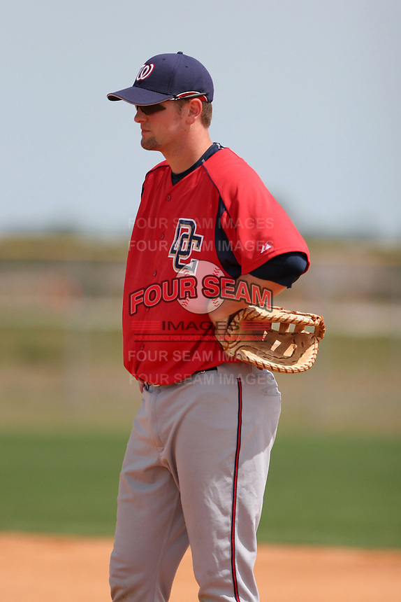 Washington Nationals minor leaguer Brett McMillan during Spring Training at the Carl Barger Training Complex on March 20, 2007 in Melbourne, Florida.  (Mike Janes/Four Seam Images)