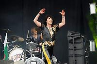 DERBY, ENGLAND - JUNE 9: Luke Spiller of 'The Struts' performing at Download Festival, Donington Park on June 9, 2018 in Derby<br /> CAP/MAR<br /> &copy;MAR/Capital Pictures