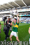 Michael Geaney celebrates after defeating Donegal in the GAA All Ireland Senior Football Championship final.