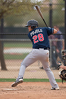 Cleveland Indians third baseman Henry Pujols (28) during a Minor League Spring Training game against the Chicago White Sox at Camelback Ranch on March 16, 2018 in Glendale, Arizona. (Zachary Lucy/Four Seam Images)