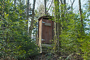 "Appalachian Trail - ""Penta Privy"" at Hexacuba Shelter (a six-sided hexagonal shelter) on the south side of Mt. Cube just off the Kodak Trail (AT) in Orford, New Hampshire."