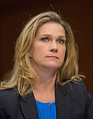 Catherine Engelbrecht, Founder, True The Vote, testifies during the United States Senate Committee on the Judiciary hearing on the confirmation of Loretta Lynch, United States Attorney For The Eastern District Of New York, U.S. Department of Justice, Brooklyn, NY as U.S. Attorney General on Capitol Hill in Washington, D.C. on Thursday, January 29, 2015. True the Vote (TTV) is a conservative, Tea Party aligned organization based in Houston, Texas that was targeted by the IRS for investigation.<br /> Credit: Ron Sachs / CNP