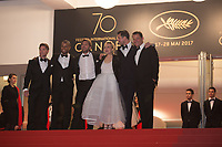 Christopher Laesso, Dominic West, Ruben Ostlund, Claes Bang, Elisabeth Moss, Terry Notary at the The Square premiere for at the 70th Festival de Cannes.<br /> May 20, 2017  Cannes, France<br /> Picture: Kristina Afanasyeva / Featureflash