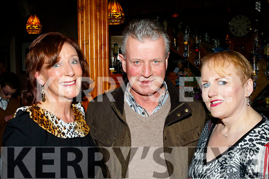 L-R Catherine&Pat O'Brien with Michelle Hillard at the Sharon Shannon concert at O'Riada's, Ballymac, last Saturday night.