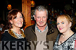 L-R Catherine&Pat O'Brien with Michelle Hillard at the Sharon Shannon concert at O'Riada's, Ballymac, last Saturday night.