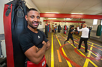 Kell Brook - IBF World Welterweight Boxing Champion at the Ingle Boxing Gym in Sheffield