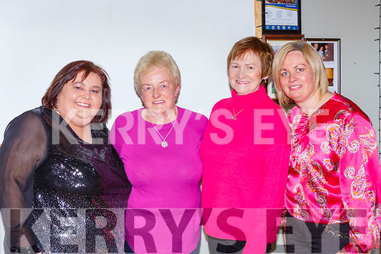 Sheila O'Neill, Nuala Doyle, Lucy Wade and Eleanor Looney  enjoying the Pink Night in Kilcummin Klub bar on Saturday night