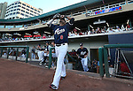 Reno Aces' Andy Marte takes the field for a game in Reno, Nev., on Saturday, Sept. 6, 2014. The Reno Aces defeated the Las Vegas 51s, 7-3, to win the Pacific Conference Championship Series. <br /> Photo by Cathleen Allison