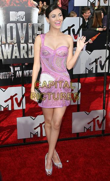 13 April 2014 - Los Angeles, California - Victoria Justice. 2014 MTV Movie Awards held at Nokia Theatre L.A. Live. <br /> CAP/ADM<br /> &copy;AdMedia/Capital Pictures
