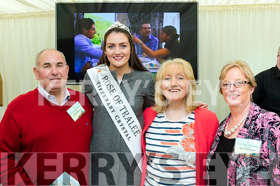 Plough Rows<br /> ------------------<br /> Recently crowned Rose of Tralee, Jennifer Byrne visited the Kerry marquee at the National Ploughing Championships in Tullamore and with her were L-R Christy McDonnell, Cahersiveen, Mary Fleming, Kilcummin and Mary O'Neill-McDonnell.