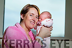 Angela Dillon Lyrecrompane and baby Louise the first baby born on News years day at Tralee General Hospital