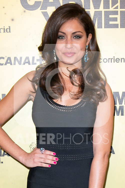 "Spanish Actress Hiba Abouk attend the Premiere of the movie ""Carmina y Amen"" at the Callao Cinema in Madrid, Spain. April 28, 2014. (ALTERPHOTOS/Carlos Dafonte)"