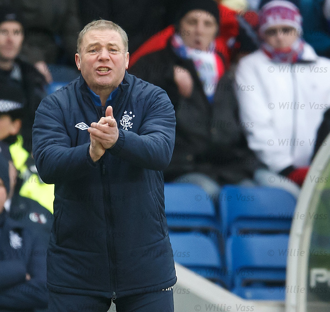 Ally McCoist urges on his men
