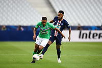 24th July 2020, Stade de France, Paris, France; French football Cup Final, Paris Saint Germain versus  St Ertienne;  Yvann Macon ( 27 - Saint Etienne ) - Neymar Jr ( 10 - PSG ) -