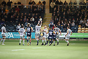 29th September 2017, Sixways Stadium, Worcester, England; Aviva Premiership Rugby, Worcester Warriors versus Saracens; Dominic Day of Saracens fumbles the ball