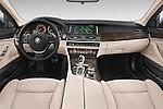 Stock photo of straight dashboard view of a 2015 BMW SERIES 5 ActiveHybrid 5 Luxury 4 Door Sedan Dashboard