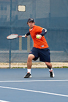 SAN ANTONIO , TX - JANUARY 31, 2010: The Laredo Community College Palominos vs. The University of Texas At San Antonio Roadrunners Men's Tennis at the UTSA Tennis Center. (Photo by Jeff Huehn)