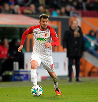 25.11.2017,  Football 1.Liga 2017/2018, 13.Match Day, FC Augsburg - VfL Wolfsburg, in der WWK-Arena Augsburg, Daniel Baier (FC Augsburg) *** Local Caption *** © pixathlon +++ tel. +49 - (040) - 22 63 02 60 - mail: info@pixathlon.de<br /> <br /> +++ NED + SUI out !!! +++