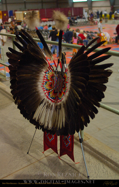 Traditional Regalia Feather Bustle, Red Rock Pow Wow, Panguitch, Utah